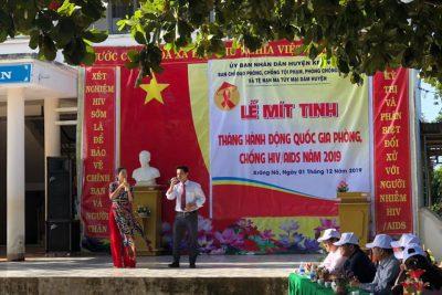 """LỄ MÍT TINH """"THÁNG HÀNH ĐỘNG QUỐC GIA PHÒNG, CHỐNG HIV/AIDS NĂM 2019"""